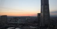 横浜の街と夕焼け