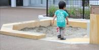 遊具広場のお砂場の写真