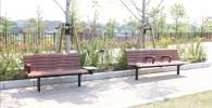 富士見台エリアのベンチ