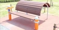 健康広場の背中を反らせるストレッチ器具