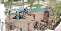 二子玉川公園の遊具広場の全体の様子を撮った写真
