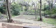 四季園木漏れ日の広場の様子。ベンチもあります。