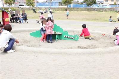 遊具広場のお砂場