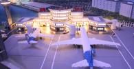 羽田空港第一ターミナルです。飛行機はANAの機体ですね。