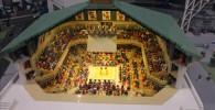 レゴブロックで作られた両国国技館と大相撲