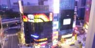銀座の不二家ビルと周辺のレゴブロックジオラマ