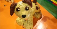 レゴブロックで作られたワンちゃん