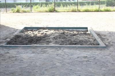 屋根付きお砂場