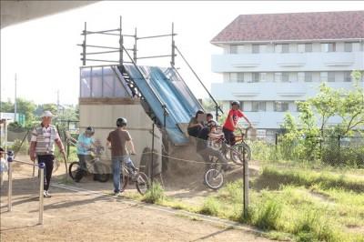 マウンテンバイク練習場の風景