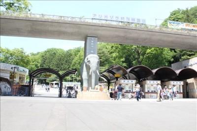 多摩動物公園入り口の風景