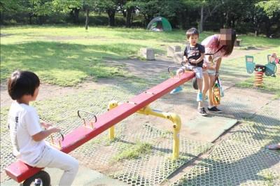 平塚総合公園内にあるシーソー