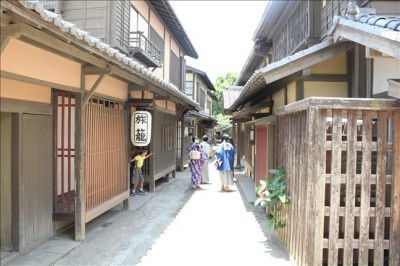 映画村の江戸の街の風景
