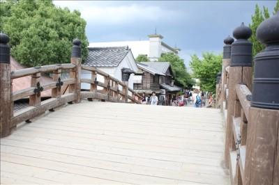 江戸時代の日本橋を再現しています