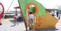 船をモチーフにした子供用遊具