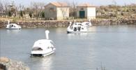 ソレイユの丘の池と足漕ぎスワンボート