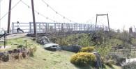 じゃぶじゃぶ池からすぐの場所にあるつり橋