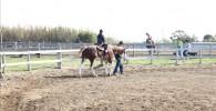 ソレイユの丘で乗馬体験の様子