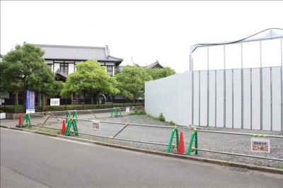 蒸気機関車館の隣で建設中の京都鉄道博物館