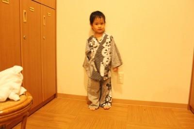 万葉倶楽部の幼児用の浴衣