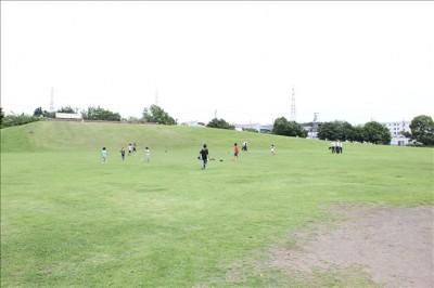 広大な広さの芝生の広場