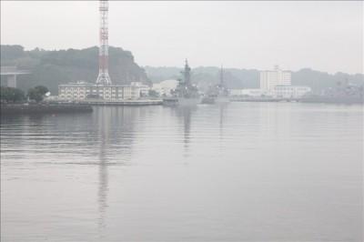 ショッパーズプラザから見える軍艦