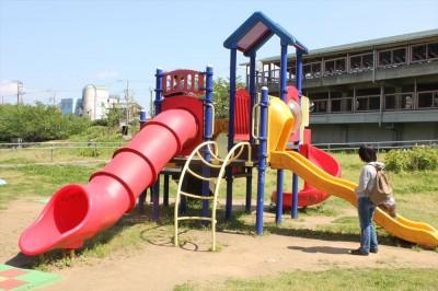 複合遊具-栗山近隣公園