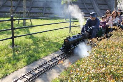 栗山近隣公園のミニ蒸気機関車