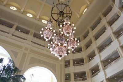 ディズニーランドホテルの天井