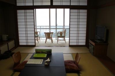 三河湾 グリーンホテル三ヶ根のベランダの向こうは絶景!
