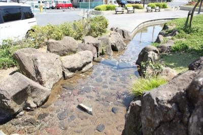 栗山近隣公園の水遊びできるせせらぎ