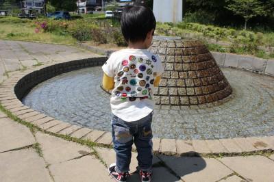 栗山近隣公園の水遊び