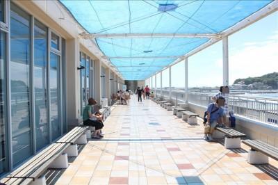 江ノ島の海が一望できるテラス