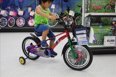トッキュウジャーの自転車の試乗