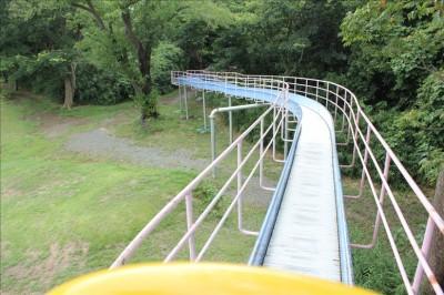 ロングローラー滑り台(青色)