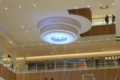 グランツリーの天井噴水