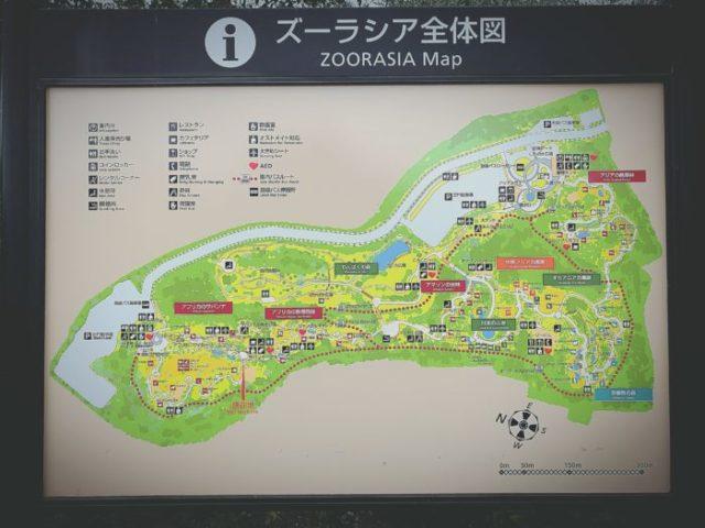 ズーラシア園内マップ