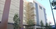 GRANDTREE(木のマーク)とロゴの入った状態のビルを斜め下から撮影