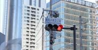 新丸子東3丁目と書いてある信号と交差点から見る街の景色