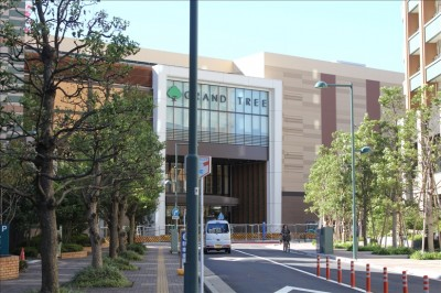 グランツリー前の通り(武蔵小杉駅側の道路)