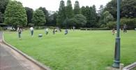 コミュニティ広場の遊べる芝生の広場