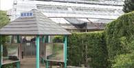 観賞温室の入り口