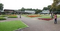 美しい花壇広場の全貌