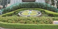 花壇広場の大きな花時計