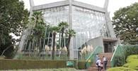 大温室のガラス張りの建物