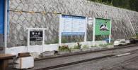 ミニ鉄道の出発地点の横の風景