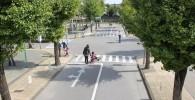 交通公園の一番大きな交差点