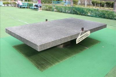 石のめずらしい卓球台