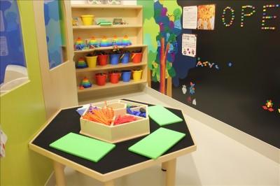 知育玩具のコーナー