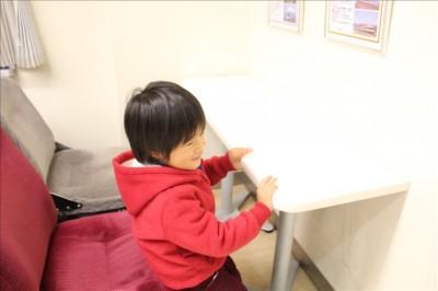 小田急線のお食事テーブル先頭座席