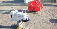 幼児用のスペースシャトルの遊具
